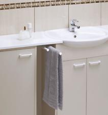 Extendable Telescopic Slide Bar Tea Bath Towel Holder Double Rails White Wenko