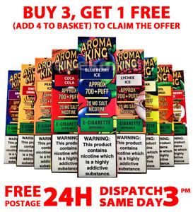 Aroma King Disposable Vape Pod E Cig 0mg | 10mg | 20mg 700 Puffs Fruity Flavours