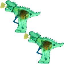 """2x Seifenblasen-LED-Pistole """"Dino-Gun"""" Komplett mit Seifenblasenflüssigkeit grün"""