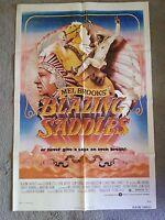 1974 BLAZING SADDLES MEL BROOKS ORIGINAL MOVIE POSTER ONE SHEET RARE