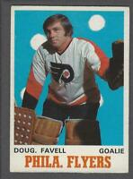 1970-71 O-Pee-Chee Philadelphia Flyers Hockey Card #199 Doug Favell