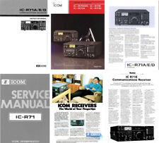 PHOTOCOPY INSTRUCTION MANUAL + SERVICE MANUALS + COLOR BROCHURE for ICOM R-71A