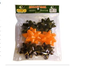 """Mossy Oak Gift Bows 3.5"""" Bows Orange and Green and Brown Pack of 6"""