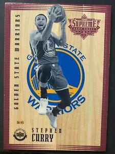 2016-17 Upper Deck UD Supreme Hard Court Stephen Curry Warriors 50/65