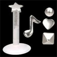 Bio Flex 16G 5/16 labret one post  4 tops music note star square and round