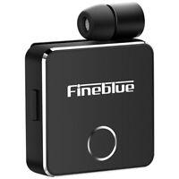 Fineblue F1 Wireless Bluetooth 5.0 Headset Vibrating Earphone Headphone Mic DA