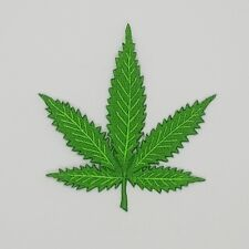 Cannabis leaves Crewel Embroidered Craft Bouquet Needlework Decor Sew Iron