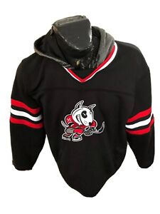 MENS Large Reebok Face Off Collection Hockey Pullover Hoodie Niagara Ice Dogs