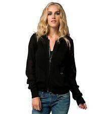 $69 Fox Racing Women's Pride Zip Black Mesh Sweater Size S