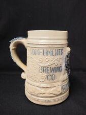Whites Utica Stoneware pre prohibition mug Crystal Springs Brewery Syracuse Ny
