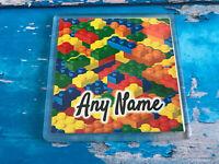 Personalised Coaster  - Drink Coaster - Add Name - Lego Brick Design