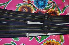 Vintage 3cm wide stripe gentleman's braces suspenders clip fastening