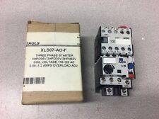 AEG Mini Starter 3hp; 110-120VAC Coil Voltage; 0.85-1.3A Overload Adj XLS07-AO-F