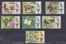 Malaysia Pahang 1971 serie corrente farfalle 80-86 MHN