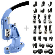 Pack 19 tools + Green Grizzly hand press for eyelets rivets press fasteners S020
