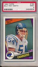 Billy Ray Smith Chargers 1984 Topps Rookie RC #184 PSA 9 MINT