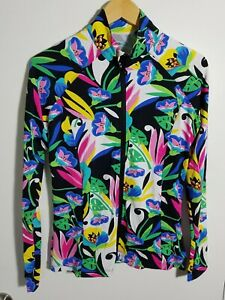 1 NWT WOMEN'S IBKUL JACKET, SIZE: SMALL, COLOR: BLACK/GREEN/BLUE/PINK (J301)