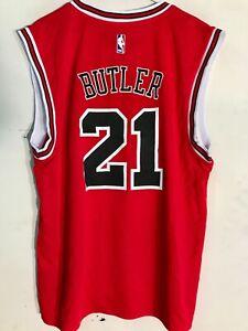 ADIDAS NBA CHICAGO BULLS JIMMY BUTLER RED LATIN NIGHTS JERSEY SIZE 2XL
