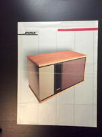 Bose 301 Speakers Original Sales Brochure / Advertising *Original Document*