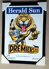 RICHMOND TIGERS 2017 AFL PREMIERSHIP HERALD SUN WEG framed POSTER