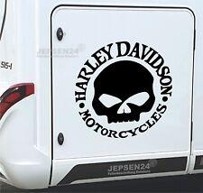 Harley Totenkopf Auto Aufkleber 60cm S137 Dark Scull - Große Farbauswahl