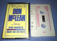 DON McLEAN THE VERY BEST OF cassette tape album T5781