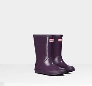 hunter rubber boots Rain Toddler Unisex Size 7 Purple