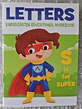 Letters, Educational Workbook Learning Alphabet 64 pages Kindergarten, Preschool