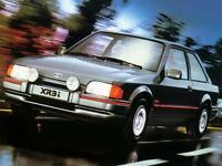 FORD ESCORT MKIV XR3i MERCURY GREY RETRO POSTER PRINT CLASSIC 80's ADVERT A3