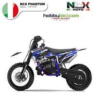 MINI CROSS MOTO ELETTRICA NCX PHANTOM 10/12 50cci Motore 2 Tempi F.MORINI BLU