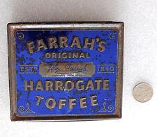 Vintage Farrahs Original Harrogate Toffee tin 1970s advertising packaging EMPTY