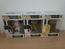 Funko Pop! MOVIES: BRUCE LEE GOLD & WHITE EDITION Vinyl Figure 218,218,219 3xPcs