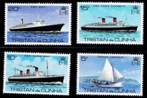 Tristan Da Cunha - 1979 - Sc 255 - 58 - Sailing Ships VF MNH