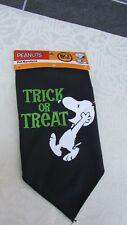 Peanuts Snoopy Halloween Trick or Treat Pet Bandana Scarf Black Easy Fasten