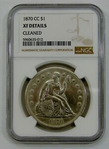 1870 CC - Seated Liberty Silver Dollar - NGC XF Details