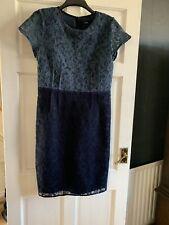 Vestido De Encaje siguiente Azul Talla 14