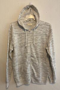 3x Bobbie Brooks Cotton-Blend Zip-Up Hoodie Sweatshirt jacket White-Gray NEW NWT