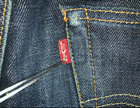 BIG E Levis vintage Jeans size 32x33 501 XX dark blue selvedge denim red tab VTG