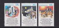 Australia 1981 : Christmas, Set of 3 Decimal Stamps, MNH
