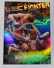 Benson Henderson Signed UFC 2010 Topps Main Event Rookie Card #149 WEC RC Auto'd