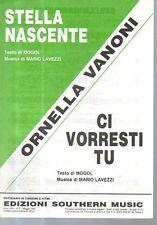 SC5 SPARTITO Stella nascente- Ci vorresti tu -Mogol -Lavezzi -O. Vanoni