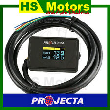 Projecta Dual Battery Monitor DBM100 - with voltage alarm, Caravan Volt Meter