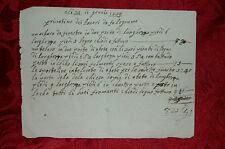 Curioso Manoscritto Fattura dei Lavori da Falegname 1859