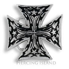 Gürtelschnalle Metall Buckle Punk Eisernes Kreuz  EK Gürtel GS030
