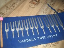 Kabbalah Tree of Life Tuning Fork Sound Healing Therapy Set of 12