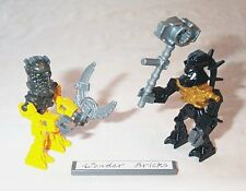 Lego Minifigure Bionicle Piraka Reidak & Toa Inika Hewkii with Weapon