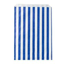 """1000 x Blue & White Candy Striped 5 x 7"""" Paper Bags Sweets Wedding Favour"""