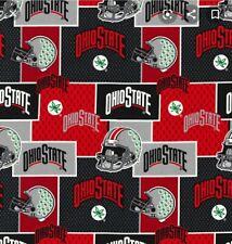 Ohio State Buckeyes Fabric, 100% Cotton Fat Quarter quilting masks Osu Football