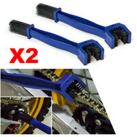 2X Motorcycle Bike Gear Chain Cleaning Dirt Rust Brush Maintenance Tools Fast US