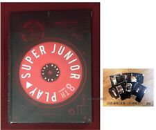 Super Junior Vol.8 PLAY (Black Suit Version) Taiwan CD+Pen Holder (Korean Lan)